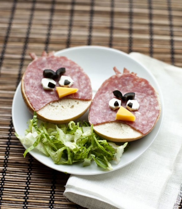 Angry Birds sandwiches